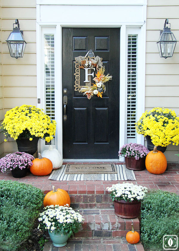 Home Tour, Front Porch, Mums, Entrance, Welcome Mat