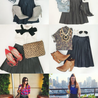 Pleated Leather Skirt Worn 6 Ways!