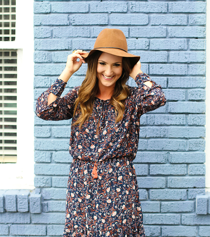 Midi Dress, Floral, Folk, 70's, Fall Style, Trend, WAYF