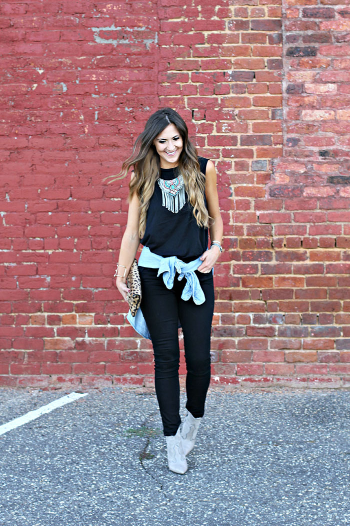 Carbon 38, workout wear, weekend outfit, boho chic, tribal necklace