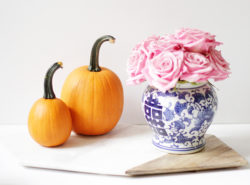 Marble Cheese Board, Business Marble Cheese Board, ginger jar, fall vignette, pumpkins, Roses