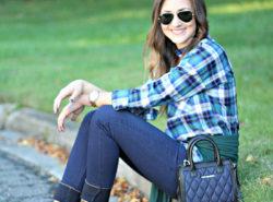 Pumpkin Patch, Plaid Shirt, Very Bradley, Lace up flats, Fall Style