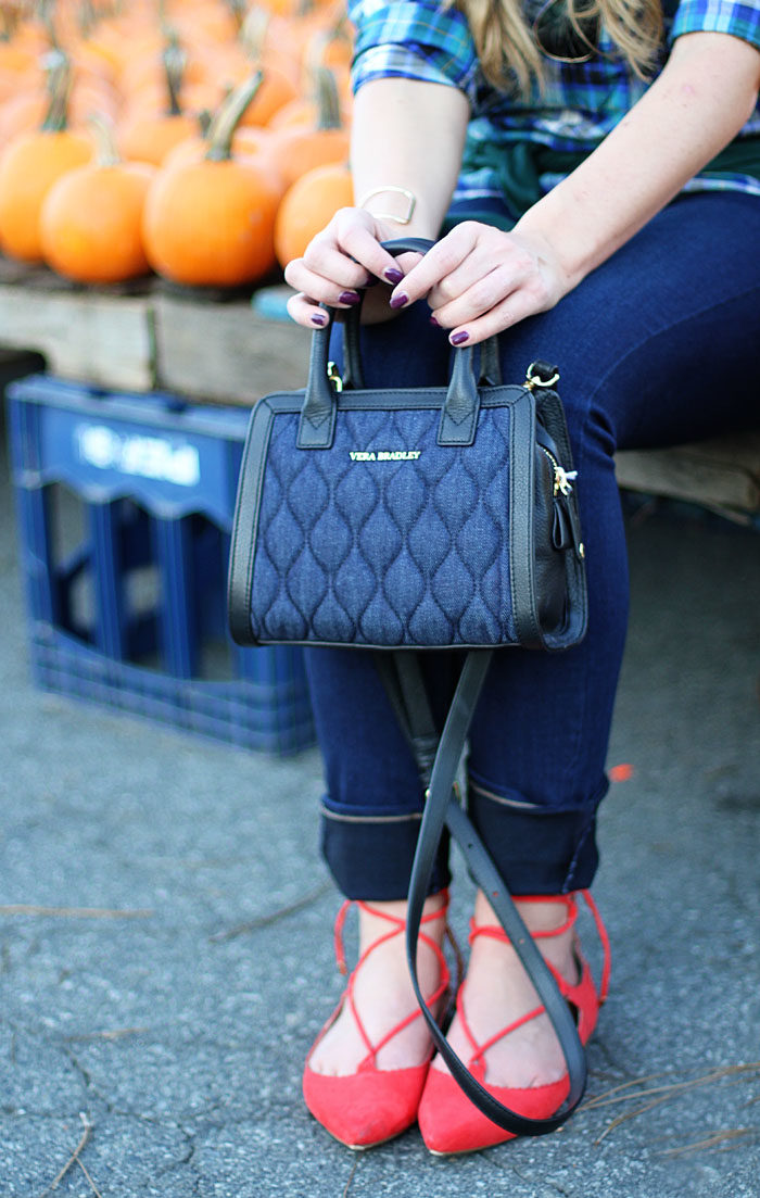 Pumpkin Patch, Plaid Shirt, Very Bradley, Lace up flats, Fall Style