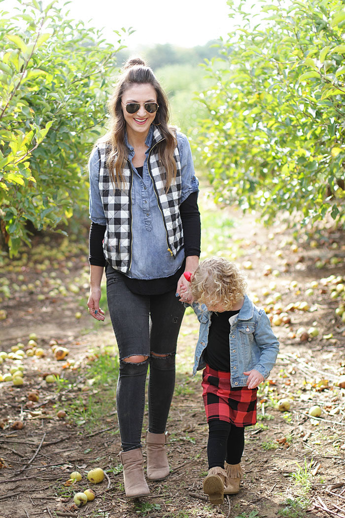 pumpkins, pumpkin patch, plaid vest, mommy and me, fall fun