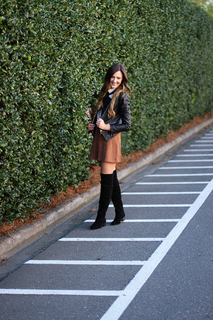 Over The Knee Boots Suede Skirts