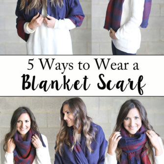 blanket scarf, how to tie a scarf, plaid scarf, tutorial