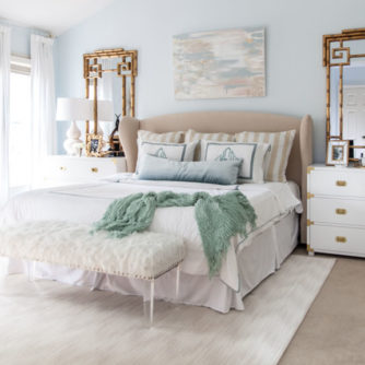 master bedroom, calming, one room challenge, bamboo, monogram, art - Master Bedroom Makeover featured by popular Texas lifestyle blogger, Style Your Senses