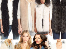 faux fur vests, faux fur, holiday