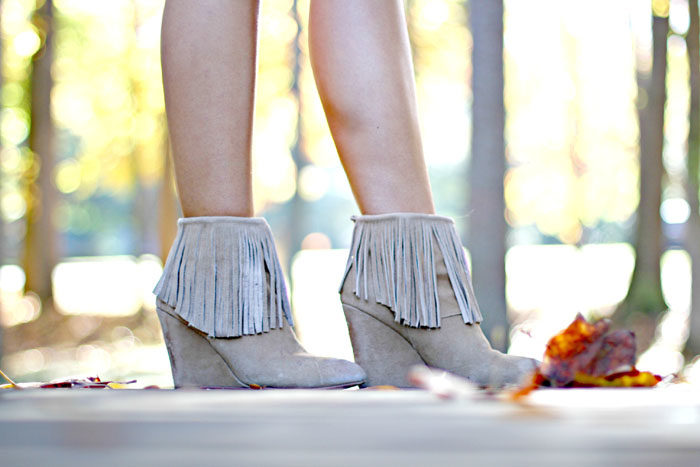Fringe booties, booties, chinese laundry