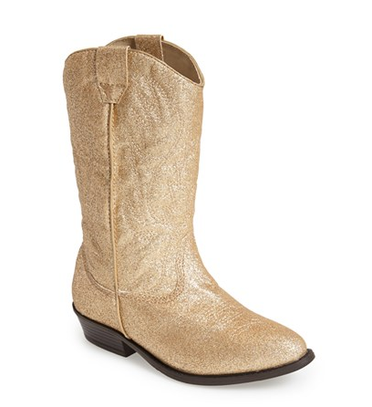 cowboy boot, cowgirl boot, gold boot, kids boot, nordstrom