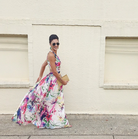 Formal Gown, Floral Dress, rayban