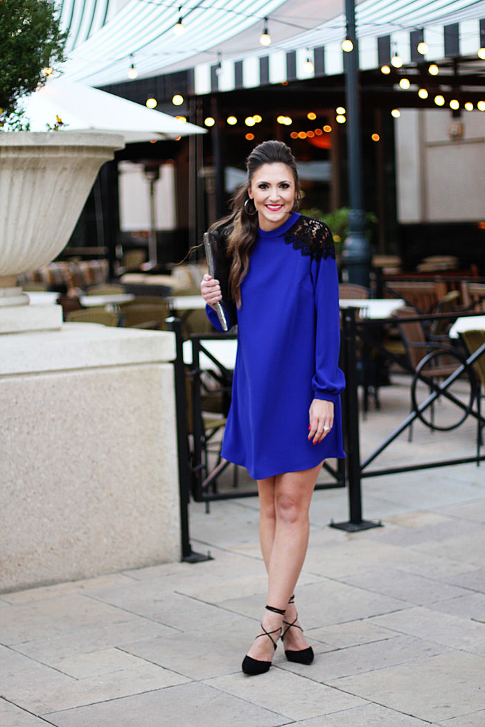 Blue Dress, Lace Dress, Party Dress, Cocktail Party, Nordstrom, Fashion Blogger