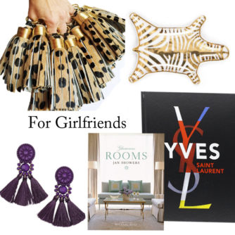 gifts for girlfriends, coffee table boo, gift guide, leopard tassel, earrings