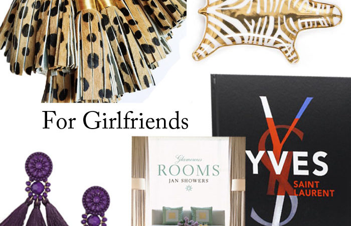 gifts for girlfriends, coffee table boo, gift guide, leopard tassel, earrings