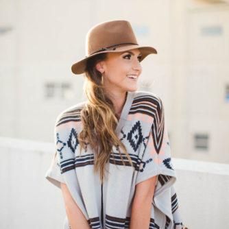 Aztec Poncho, Distressed Denim, Rebecca Minkoff, Fashion Blogger