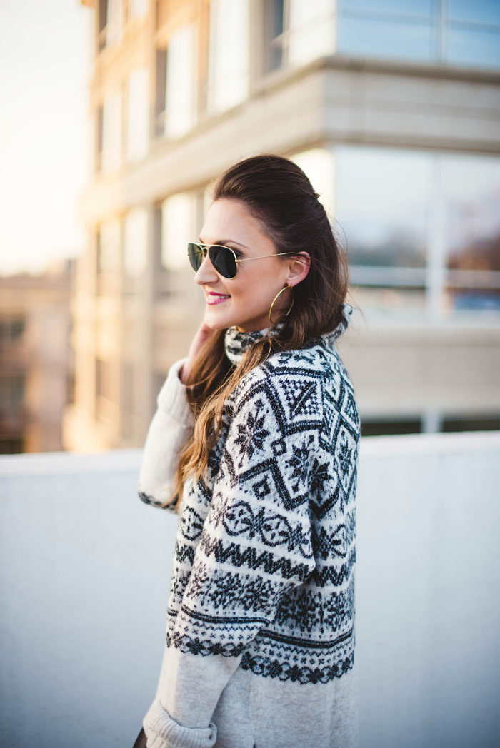 fair isle sweater, sale, winter fashion, blogger