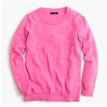 j. crew, pink sweater, on sale