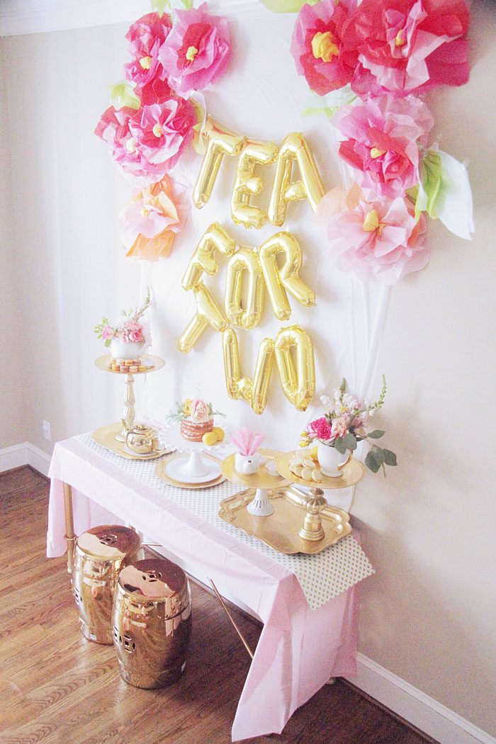 Tea for two a birthday party style your senses for 2nd birthday party decoration