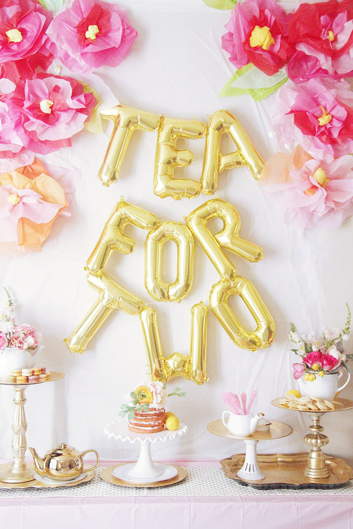 Tea For TWO A Birthday Party Style Your Senses