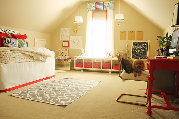 guest room, play room, deign blogger