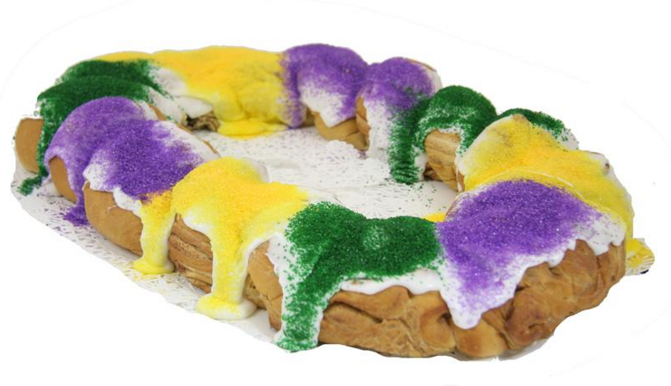 king cake, louisiana, mardi gras