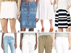 bottoms for Spring, denim, shorts, loft, nordstrom, skirt