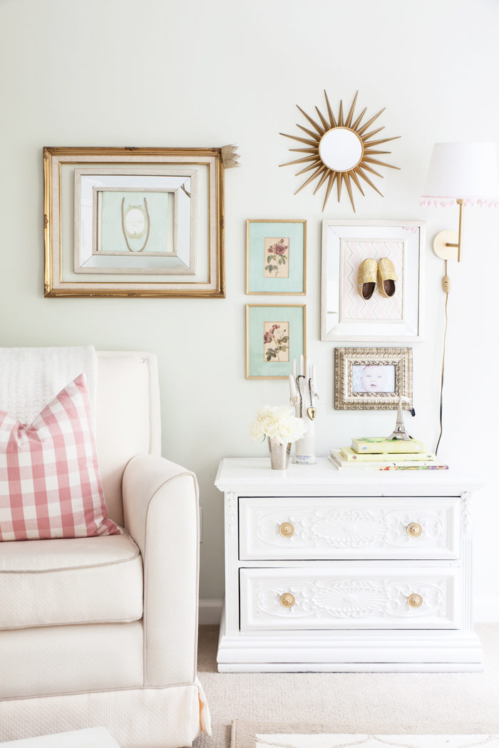 Nursery, girl nursery, vintage, floral, jenny lind, wallpaper