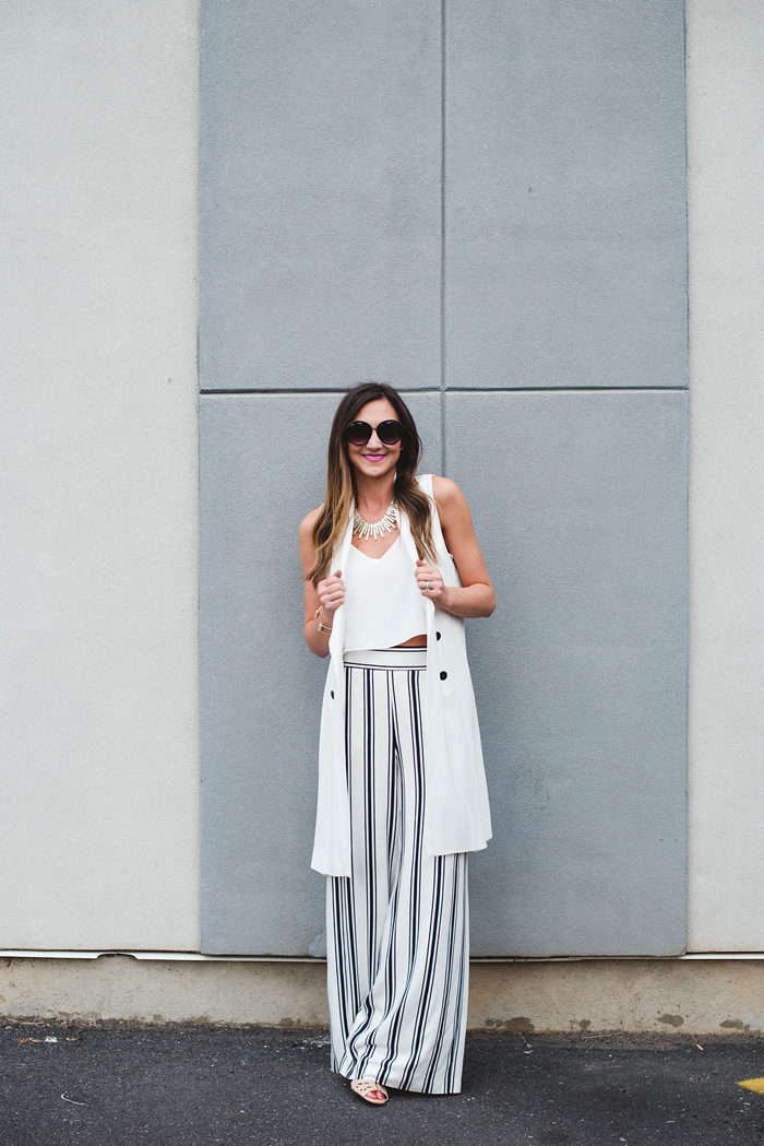 1 State, Wide Leg Pants, Crop Top, Trench Vest, Rebecca Minkoff Reagan