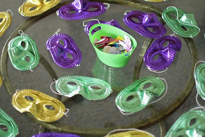 mardi gras, mardi gras mask, diy, kids party activity