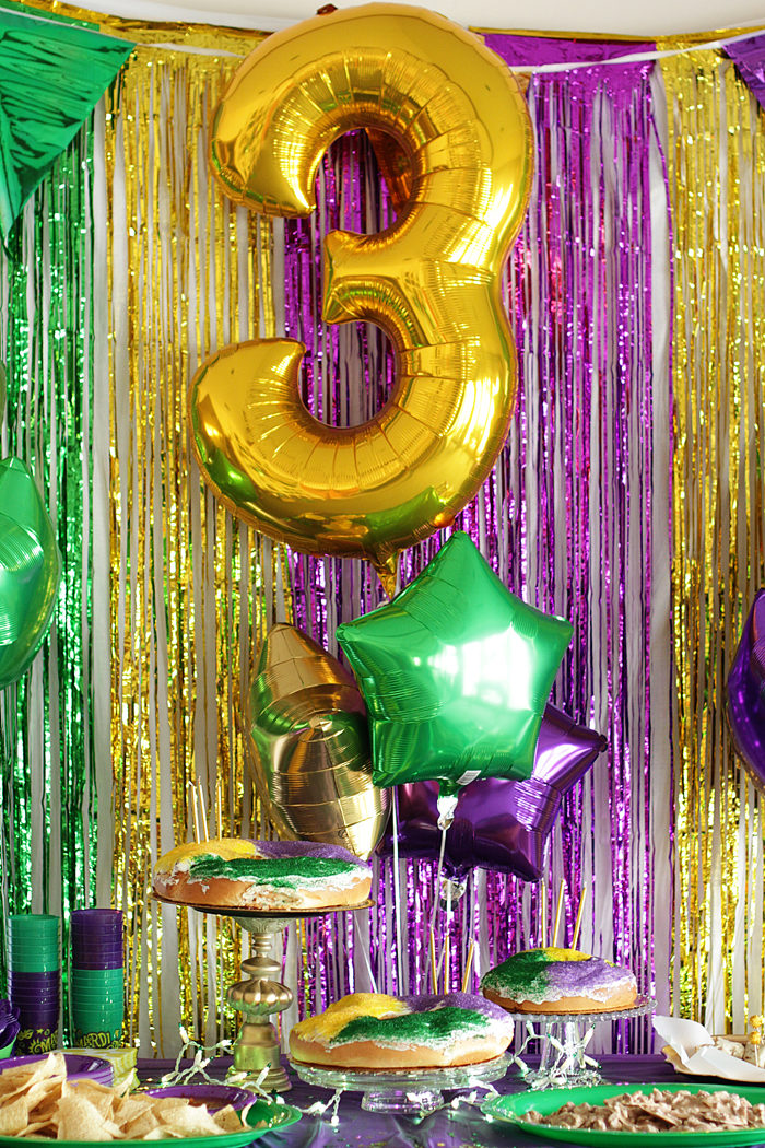 Mardi Gras Party, Kids Party, DIY Party, King Cake