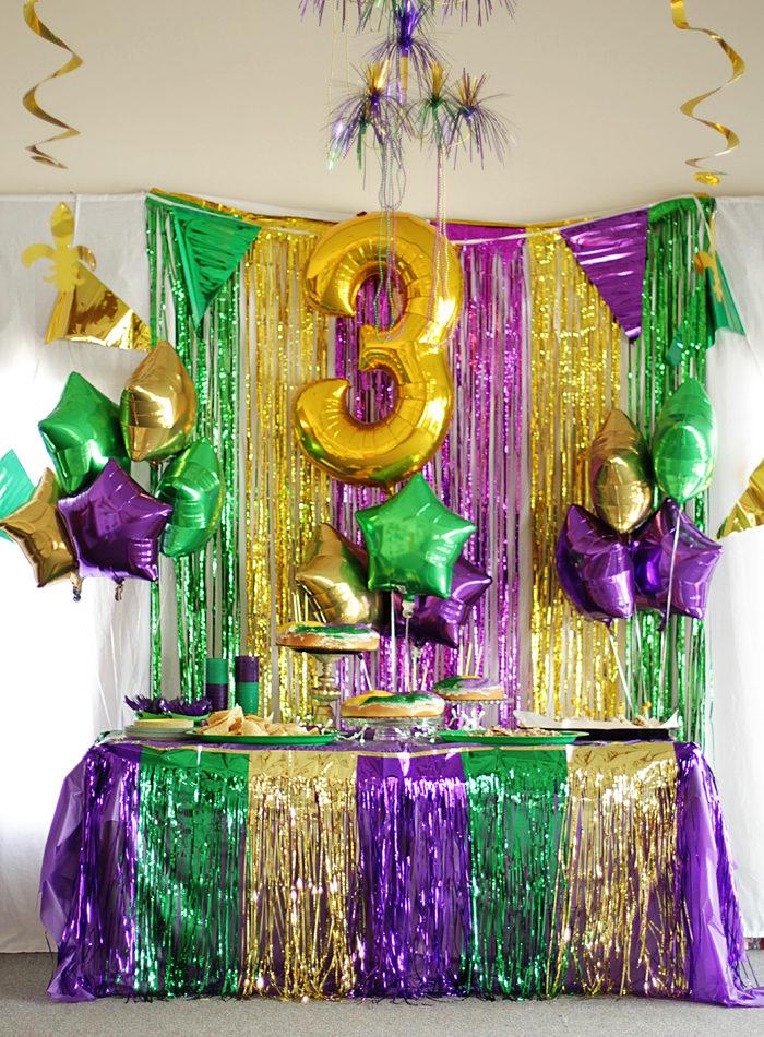 A Mardi Gras Third Birthday Party Style Your Senses