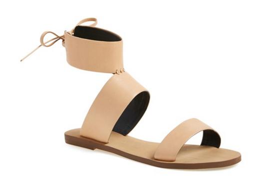 Rebecca Minkoff sandal, ankle cuff sandal,