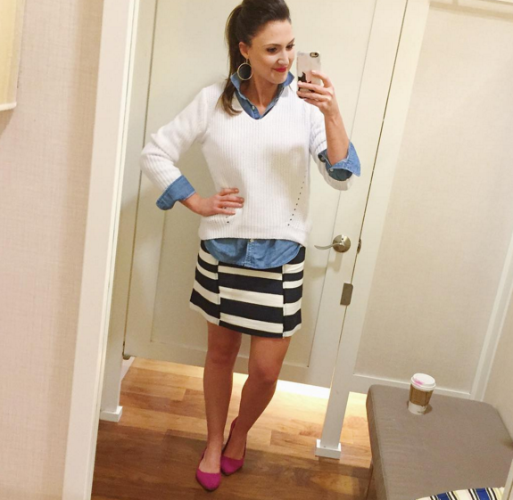 fashion blogger, ootd, ann taylor LOFT, nautical