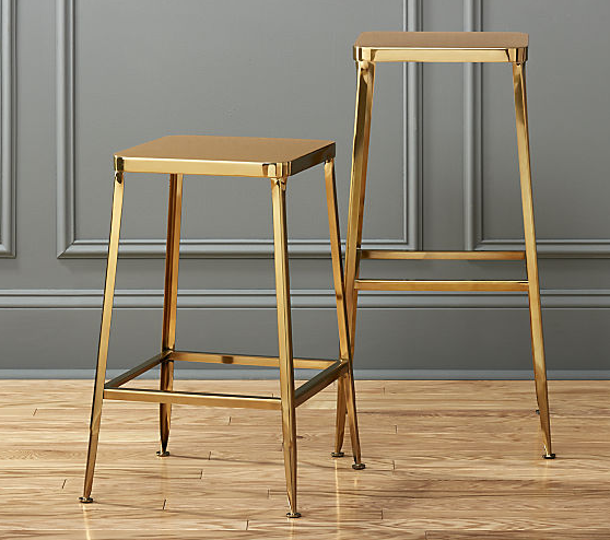 These CB2 gold stools are the ultimate chic statement piece.