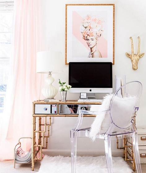 This glam office space will definitely inspire you to create.