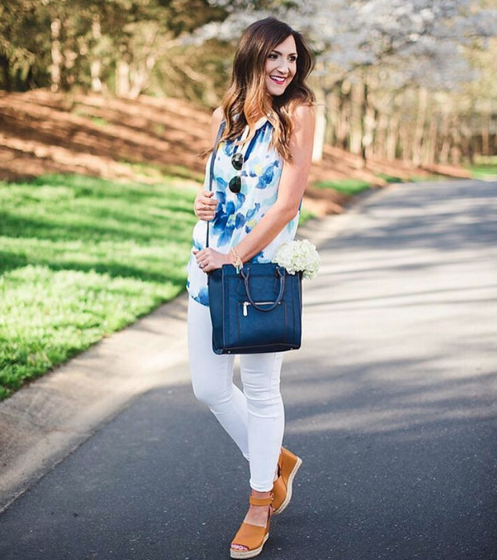 This entire outfit is from Charming Charlie and these wedges are a must have.