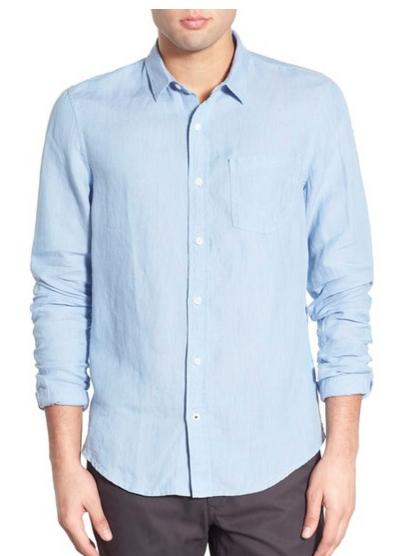 Men's lightweight linen shirt for Spring.
