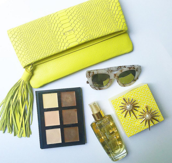 All of my Friday Edit favorites, including this neon tassel clutch.