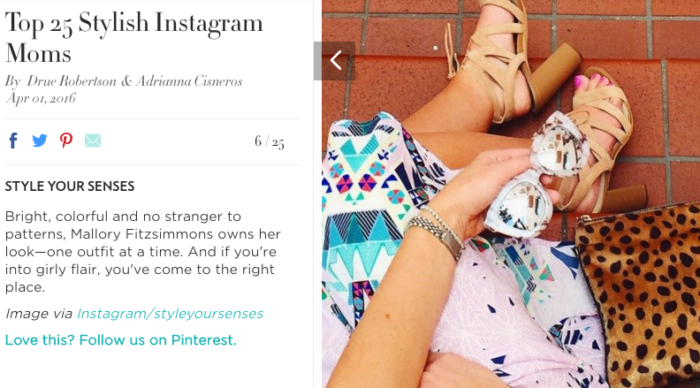 top 25 most stylish instagram moms