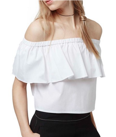 topshop off the shoulder white top