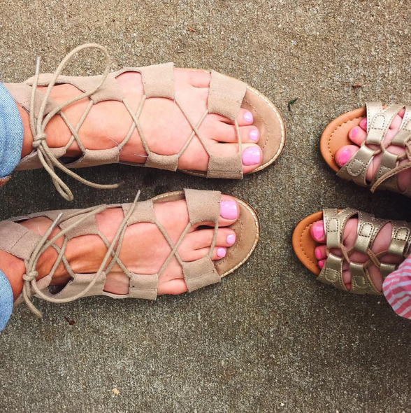 mommy and me gladiator sandals