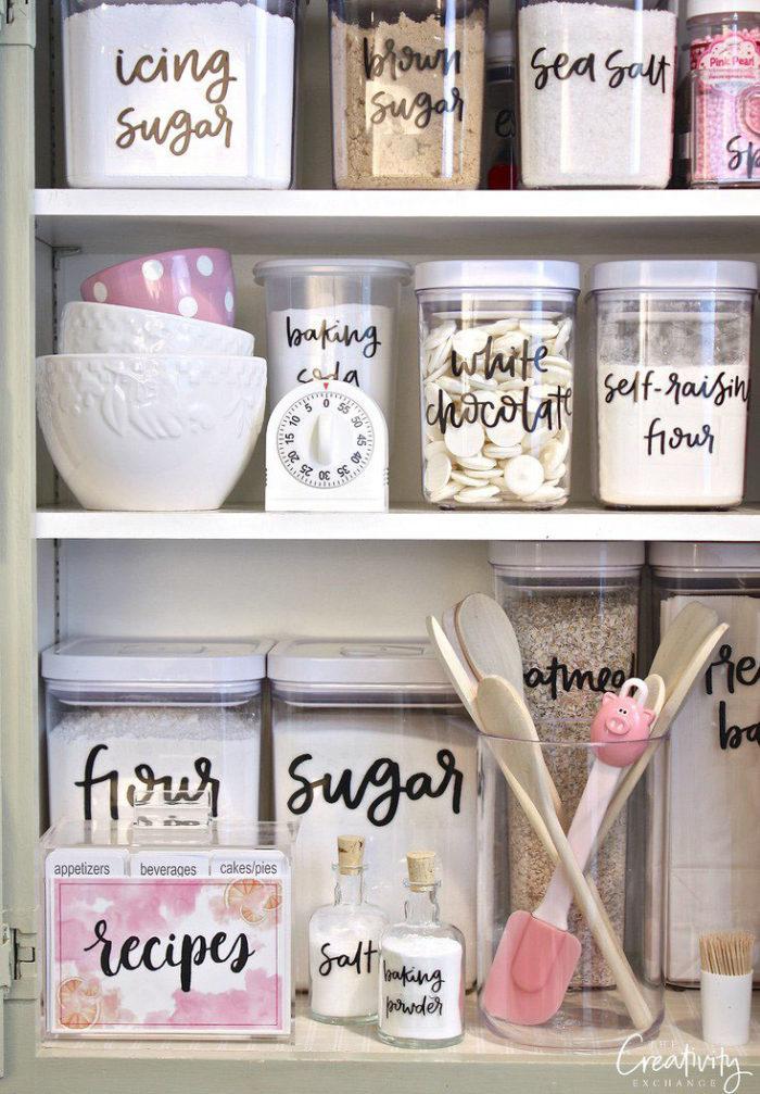 beautiful pantry organization