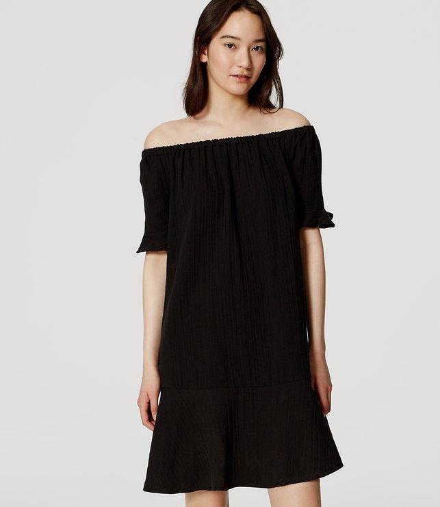 off the shoulder loft dress