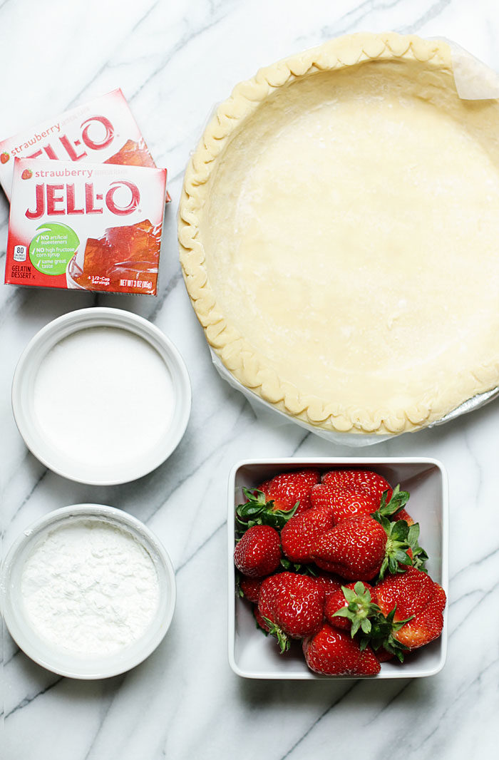 What you need to make homemade strawberry pie