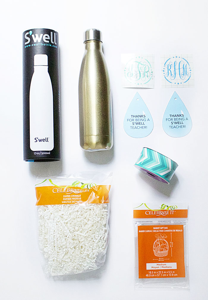DIY teacher gift with s'well water bottle