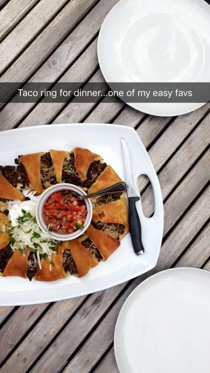taco ring, dinner