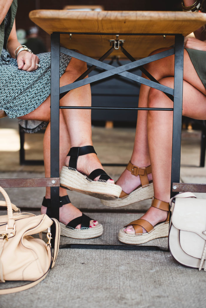 Flatform sandals are a huge trend for summer