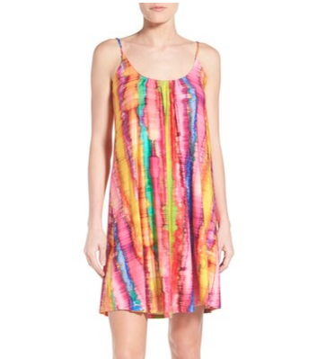 tie dye print slip dress