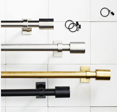 gold curtain rods on sale