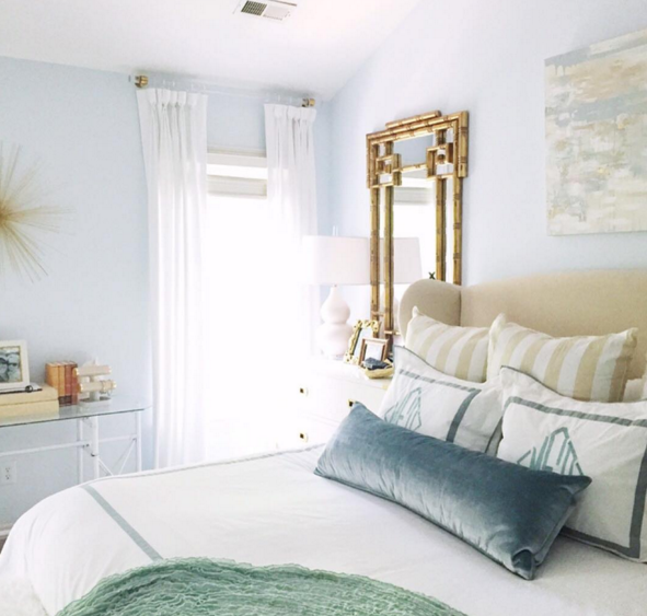 Calming and bright master bedroom